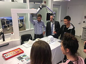 Students at the Jacobs Institute Try Their Hand at Synaptive Medical's Robotic Surgery System